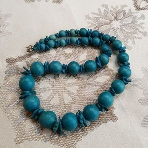 Vintage wooden bead necklace/ 2 for $10